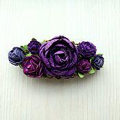 Украшения handmade. Livemaster - original item Violet automatic hairpin. Handmade.