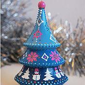 Подарки к праздникам handmade. Livemaster - original item Christmas tree-tumbler with melody.. Handmade.