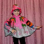 Одежда handmade. Livemaster - original item Poncho felted baby