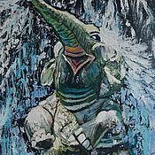 """Картины и панно ручной работы. Ярмарка Мастеров - ручная работа Картина маслом """"Слоник- весельчак"""". картина. картина слон. животные. Handmade."""