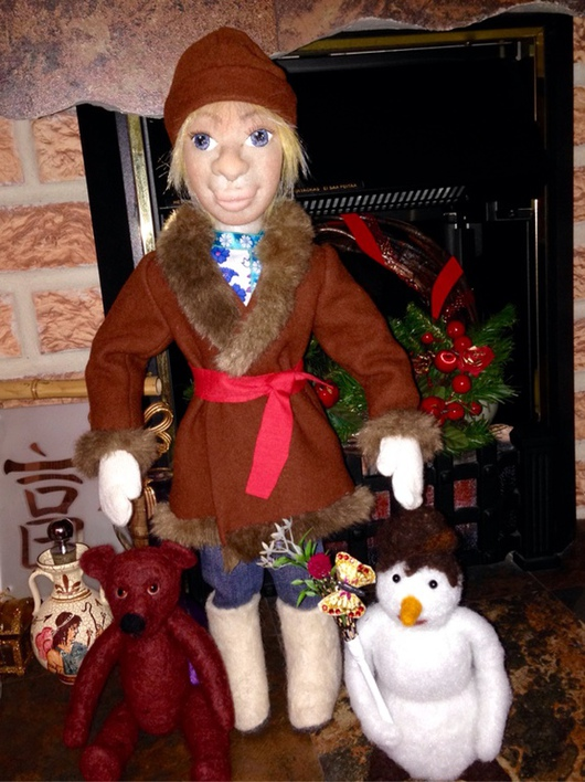 Коллекционные куклы ручной работы. Ярмарка Мастеров - ручная работа. Купить Кукла интерьерная. Handmade. Кукла ручной работы, синтепон