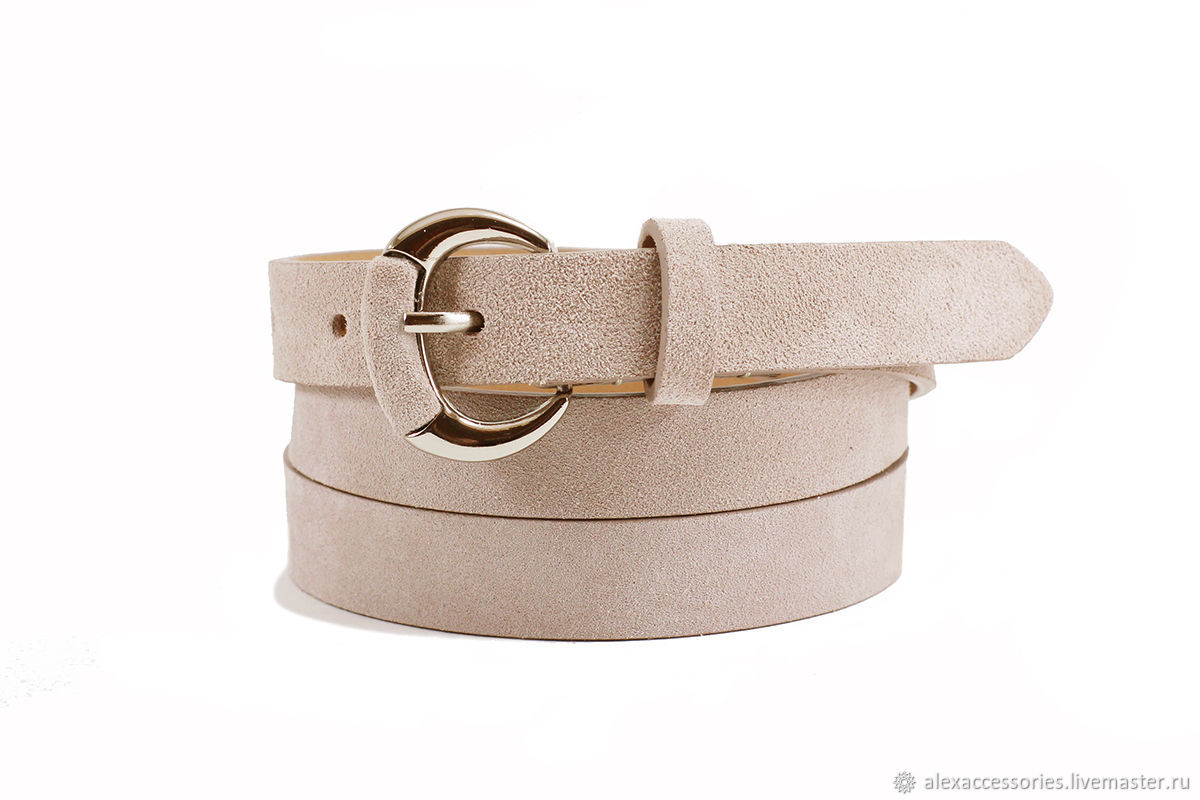 Copy of Beige suede belt, Straps, Moscow,  Фото №1