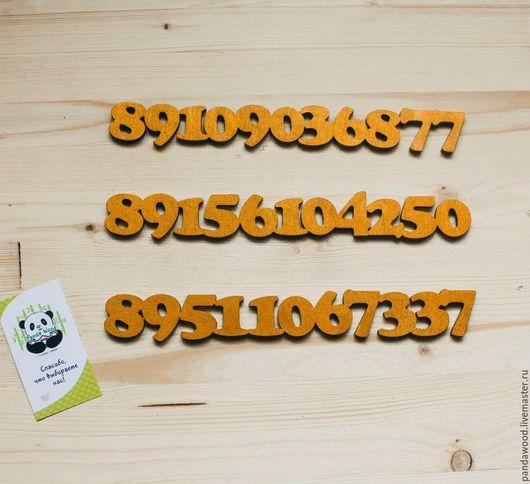 Персональные подарки ручной работы. Ярмарка Мастеров - ручная работа. Купить Номер телефона из дерева (для машины). Handmade.