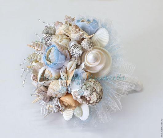 Свадебные цветы ручной работы. Ярмарка Мастеров - ручная работа. Купить Букет из ракушек Морское Путешествие. Handmade. Белый