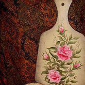 Для дома и интерьера ручной работы. Ярмарка Мастеров - ручная работа Доска и салфетница. Handmade.