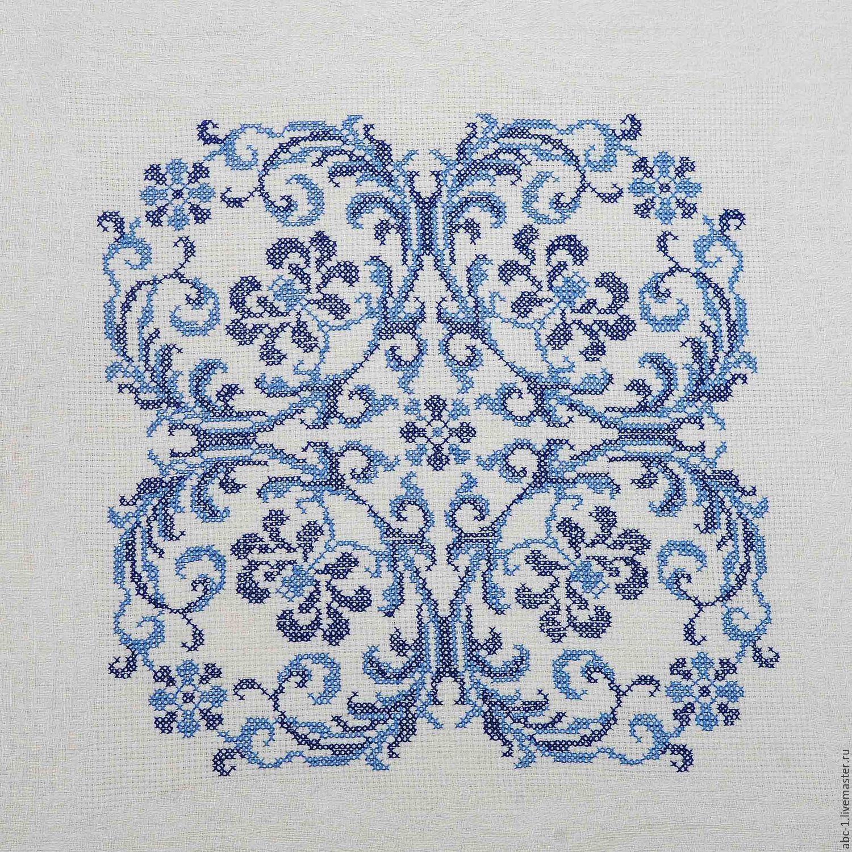 схема вышивки крестиком для скатерти