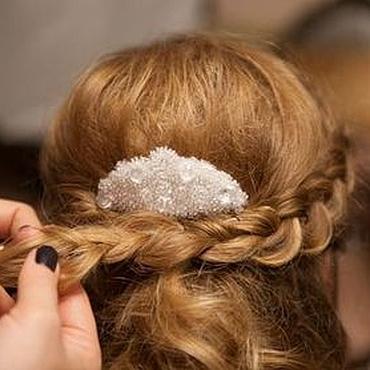 """Свадебный салон ручной работы. Ярмарка Мастеров - ручная работа Гребень для волос """"Северное сияние"""". Handmade."""