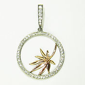 Украшения handmade. Livemaster - original item Silver pendant with gold