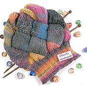 Аксессуары handmade. Livemaster - original item Knitted hat beanie women`s slouchy squares. Handmade.