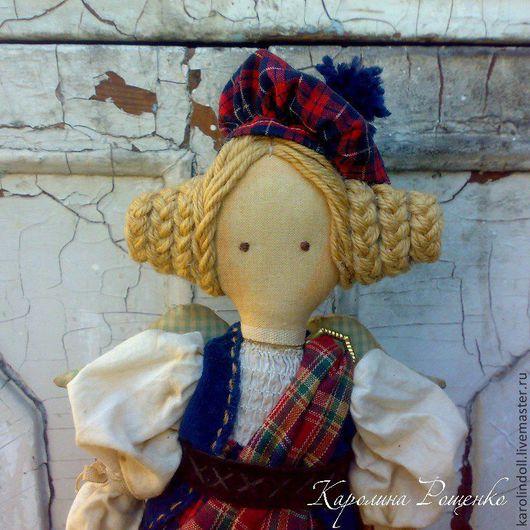 Коллекционные куклы ручной работы. Ярмарка Мастеров - ручная работа. Купить Цветок Шотландии. Handmade. Ярко-красный, шотландский стиль