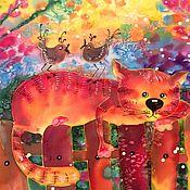 Картины и панно ручной работы. Ярмарка Мастеров - ручная работа Солнечный котик!. Handmade.