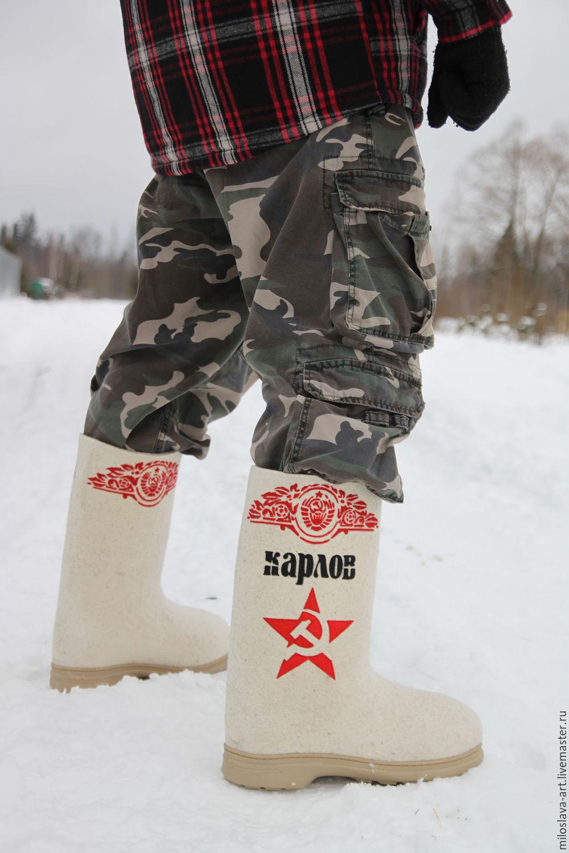 Handmade Shoes handmade. Livemaster - handmade. Buy Boots 'Soviet'.For men, men's gift, boots for the street