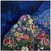 """Картины и панно ручной работы. Ярмарка Мастеров - ручная работа """"Летняя ночь"""" (""""Витражи""""). Handmade."""
