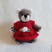Куклы и игрушки ручной работы. Ярмарка Мастеров - ручная работа мишка в красном. Handmade.