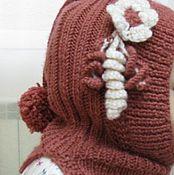 Работы для детей, ручной работы. Ярмарка Мастеров - ручная работа Детская шапочка-шлемик. Handmade.