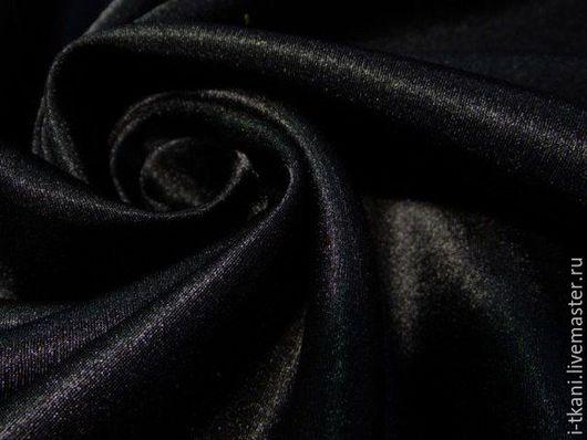 КРС-002 Креп-сатин. Цвет `Чёрный`.  100% пэ. Китай. Ширина 140см.  Плотность 210 г/м. 1м - 250руб.