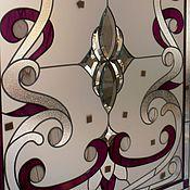 Для дома и интерьера ручной работы. Ярмарка Мастеров - ручная работа Лиловые узоры. Витраж. Английский витраж. Handmade.