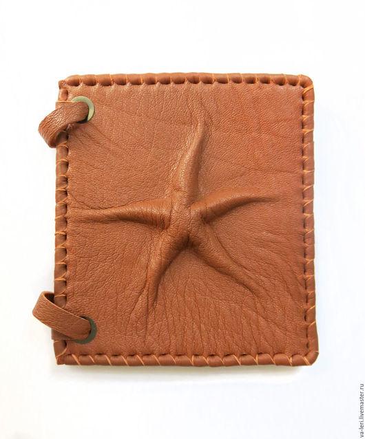 """Блокноты ручной работы. Ярмарка Мастеров - ручная работа. Купить Блокнот из кожи """"Мимикрия"""". Handmade. Рыжий, море, морская звезда"""