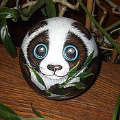 Сувениры и подарки handmade. Livemaster - original item Bear Panda eyed musical ball tumbler. Handmade.