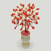 Цветы и флористика handmade. Livemaster - original item Rose quartz and coral tree