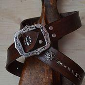 Ремни ручной работы. Ярмарка Мастеров - ручная работа Ремень из кожи буйвола. Handmade.