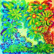 Аксессуары handmade. Livemaster - original item silk scarf batik Ah, summer!. Handmade.
