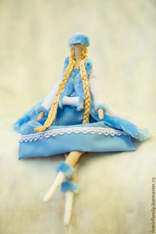 Куклы Тильды ручной работы. Ярмарка Мастеров - ручная работа. Купить кукла Тильда Снегурочка. Handmade. Комбинированный, кукла Тильда