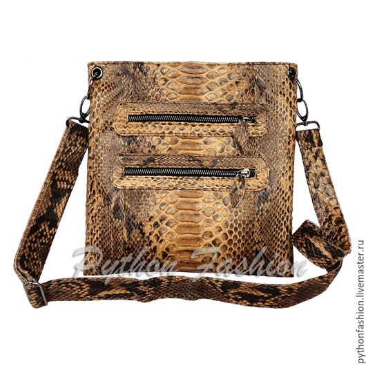 Сумочка из кожи питона. Маленькая сумочка из кожи питона. Питоновая сумочка кросс-боди на ремешке. Легкая сумочка из кожи питона ручной работы. Стильная сумочка через плечо. Красивая сумочка на весну.