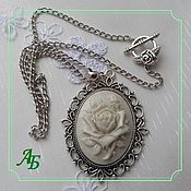 Субкультуры handmade. Livemaster - original item Pendant with cameo (rose) necklace. Handmade.