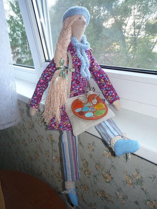 Куклы Тильды ручной работы. Ярмарка Мастеров - ручная работа. Купить Художница. Handmade. Интерьерная кукла