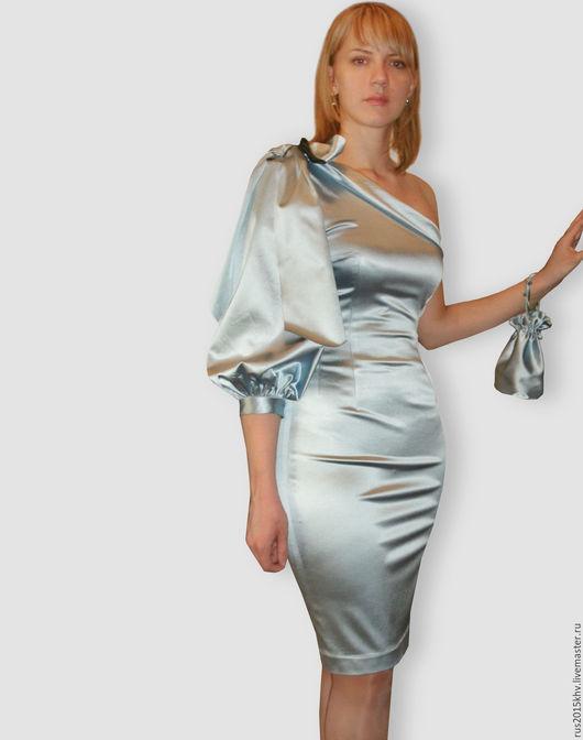 Платья ручной работы. Ярмарка Мастеров - ручная работа. Купить Голубая мечта. Handmade. Голубой, вечернее платье, бант