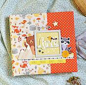 """Подарки к праздникам ручной работы. Ярмарка Мастеров - ручная работа Фотоальбом для мальчика """"Лесные звери"""", подарок для новорожденного.. Handmade."""