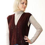 Одежда handmade. Livemaster - original item Vest knitting wool. Handmade.