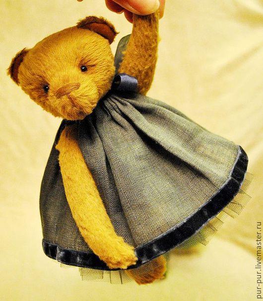 Мишки Тедди ручной работы. Ярмарка Мастеров - ручная работа. Купить Виола (Ночная Фиалка). Handmade. Желтый, мишка девочка