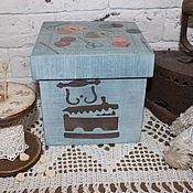 """Для дома и интерьера ручной работы. Ярмарка Мастеров - ручная работа Короб """" Рукодельница """". Handmade."""