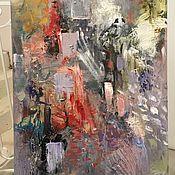 """Картины и панно ручной работы. Ярмарка Мастеров - ручная работа Абстракция """"Дождь"""". Handmade."""