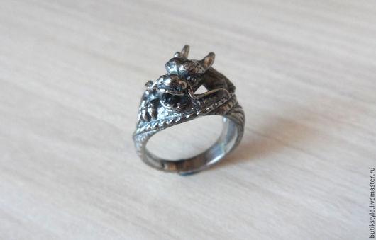 """Кольца ручной работы. Ярмарка Мастеров - ручная работа. Купить Серебряное кольцо """"Дракон"""". Handmade. Серебро 925 пробы"""