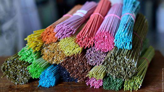 Трубочки на заказ, разные цвета