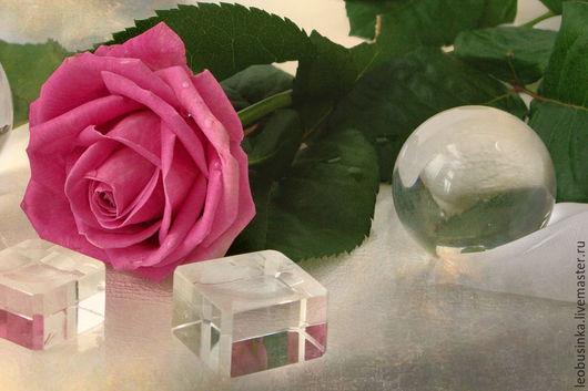 Фотокартины ручной работы. Ярмарка Мастеров - ручная работа. Купить Фотокартина Роза и стекло три фото 20х30. Handmade. Разноцветный