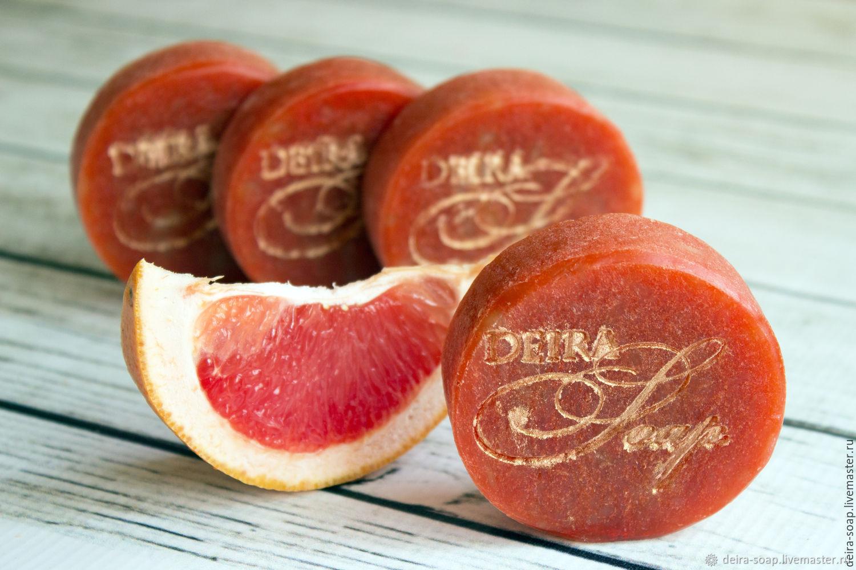 Грейпфрут натуральное мыло с нуля на козьем молоке, Мыло, Димитровград,  Фото №1