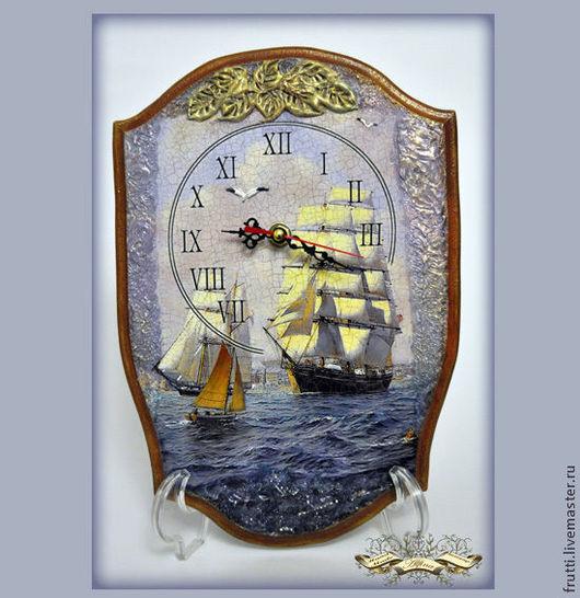 """Часы для дома ручной работы. Ярмарка Мастеров - ручная работа. Купить Часы """"В гавань заходили корабли..."""". Handmade."""