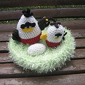 Куклы и игрушки ручной работы. Ярмарка Мастеров - ручная работа Гнездо с орлом, орленком и яйцом (вязаное). Handmade.