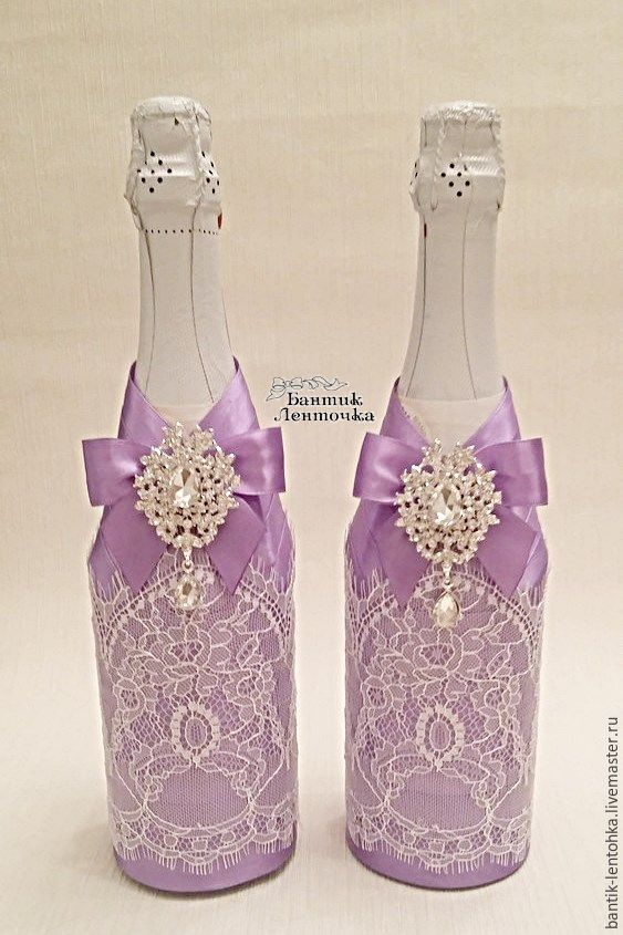 Wedding decor bottles purple dreams shop online on livemaster wedding accessories handmade wedding decor bottles purple dreams kristina n junglespirit Choice Image