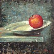 Картины и панно ручной работы. Ярмарка Мастеров - ручная работа Натюрморт с красным яблоком. Handmade.