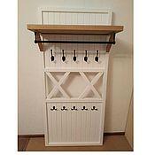 Для дома и интерьера handmade. Livemaster - original item Clothes hanger wall with oak shelf and bracket