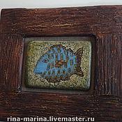 """Картины и панно ручной работы. Ярмарка Мастеров - ручная работа живописное панно """"Под знаком рыбы"""". Handmade."""