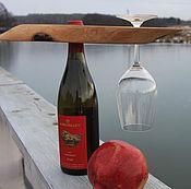 Для дома и интерьера ручной работы. Ярмарка Мастеров - ручная работа подставка под вино и бокалы. Handmade.