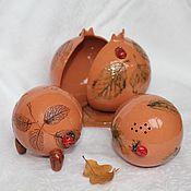 Для дома и интерьера ручной работы. Ярмарка Мастеров - ручная работа Набор для кухни Листья керамика. Handmade.