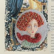 Украшения handmade. Livemaster - original item Girl On. Brooch. Embroidery. Handmade.