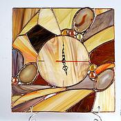 """Для дома и интерьера ручной работы. Ярмарка Мастеров - ручная работа Часы `` Оттенки меда  """". Handmade."""